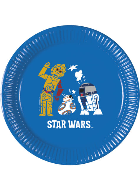 Conjunto de 8 pratos de plástico de A Força de Star Wars