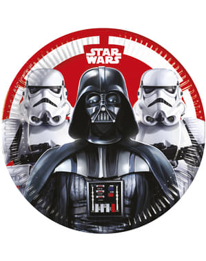 8 Star Wars The Final Battle plates (23 cm) - Final Battle
