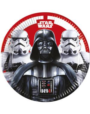 Sæt af 8 Star Wars The last Battle tallerkner