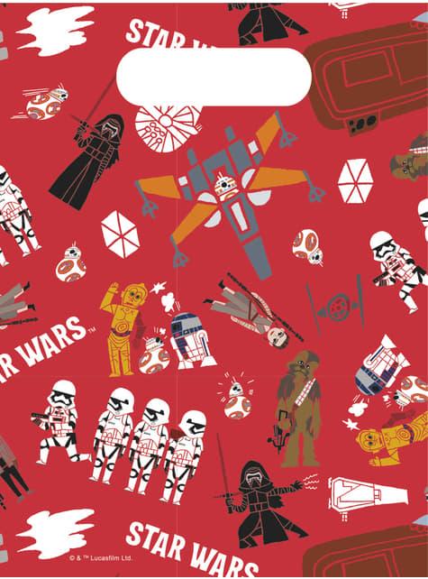 Set di 6 borse di carta della Forza di Star Wars