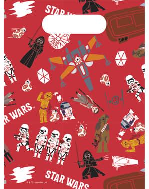 Sett med 6 The Force of Star Wars papir poser