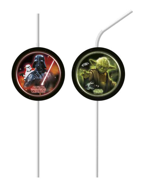 Set de 6 pajitas de Star Wars La Batalla Final
