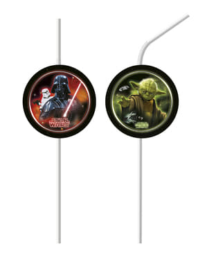 6 Star Wars The Final Battle straws - Final Battle