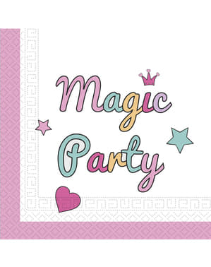 20 Unicorn Magic Party napkins - Magic Party