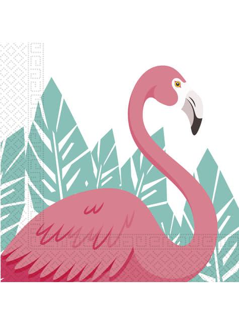 20 servilletas de flamenco rosa (33x33cm) - Flamingo
