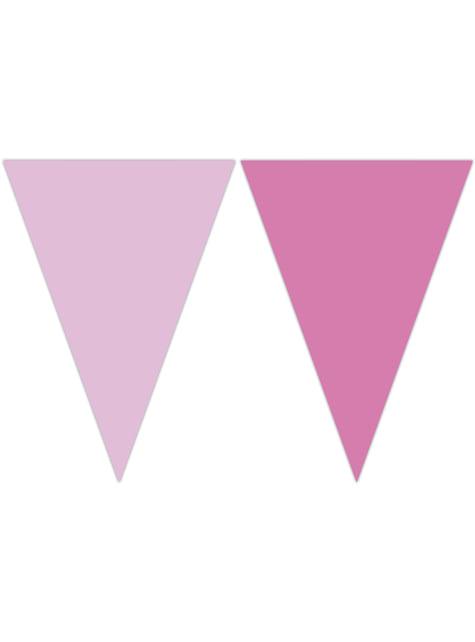 Banderín color rosa pastel