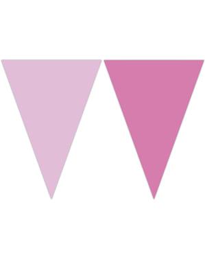 Dreieckige Fähnchen in rosa Pastelltönen