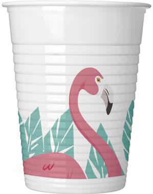 Set 8 gelas plastik Flamingo Pink