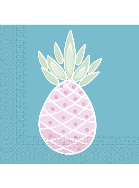20 Serviettes en papier ananas pastel