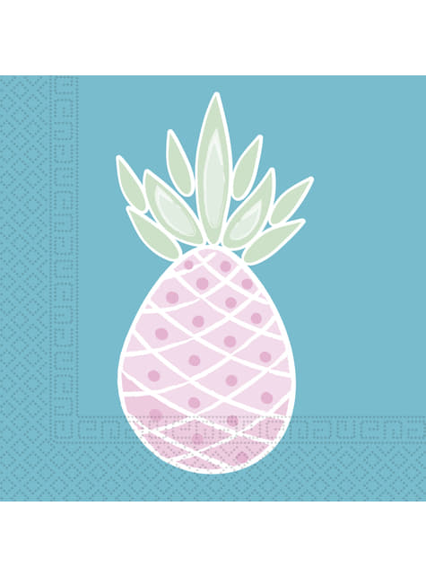 20 servilletas de piñas color pastel (33x33cm) - Pineapple