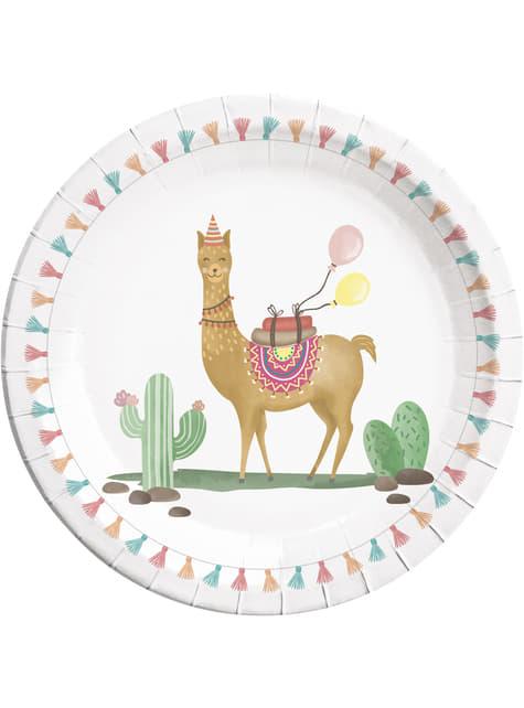 8 Cactus and Llama plates (23 cm)
