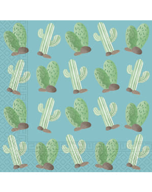 Набір з 20 Кактус і лами серветки