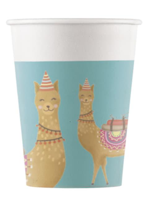 8 Cactus and Llama plastic cups