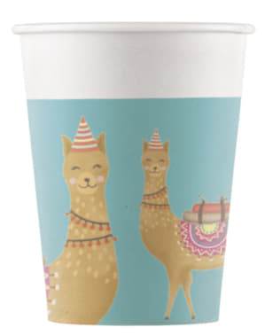 8 bicchieri di plastica con cactus e fiamma