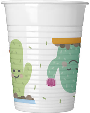 8 Funny Cacti plastic cups