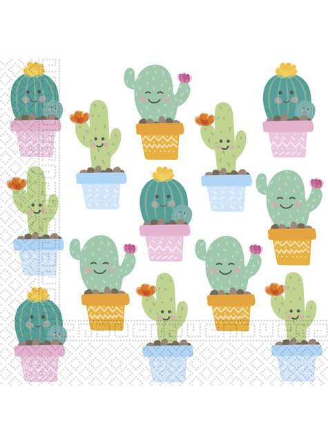 Set de 20 servilletas de cactus graciosos