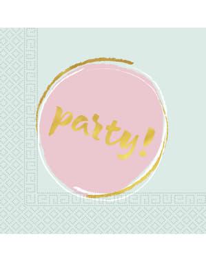 20 Elegante Pastel Kleurige servetten (33x33 cm)
