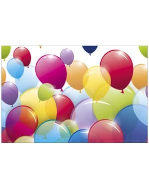 Mantel de plástico de globos arcoíris