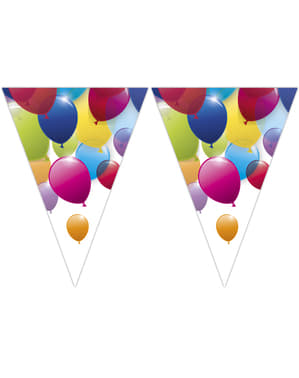 Colourful balloons banner