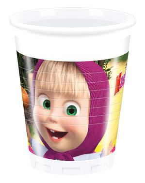 Комплект от 8 хартиени чаши Маша и Мече