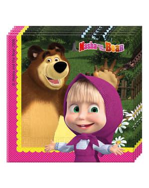 20 guardanapos de Masha e o Urso (33x33 cm)