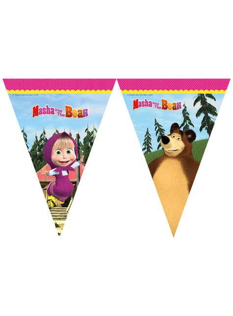 Bandeirolas de Masha e o Urso