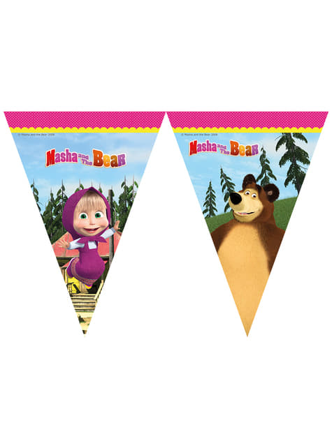 Banderines de Masha y el Oso