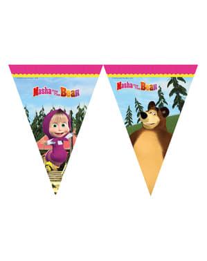 マーシャと熊旗飾り