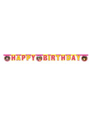 Happy Birthday Girlande aus Mascha und der Bär
