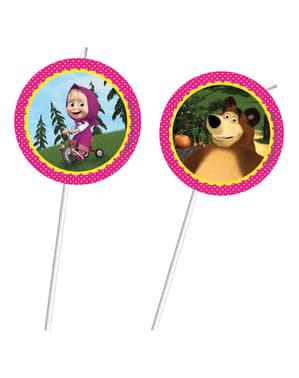 6 Masha and The Bear straws