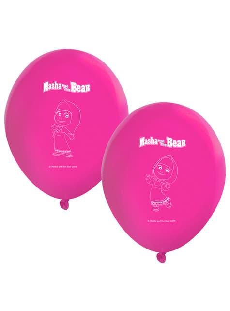 8 globos de látex de Masha y el Oso (30 cm)