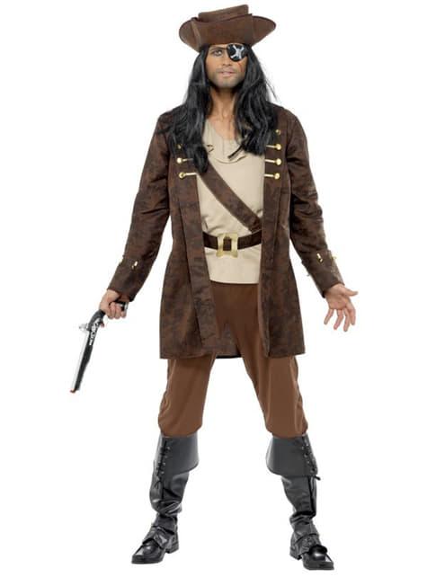 Klassisk Buccaneer Pirat Kostyme Voksen