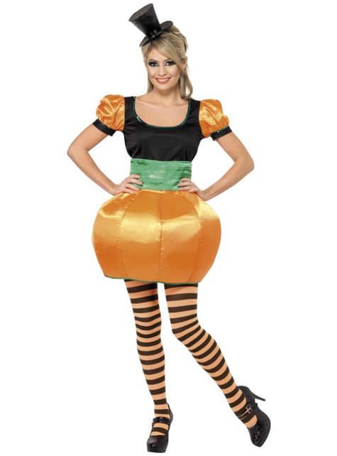 Déguisement citrouille orange femme