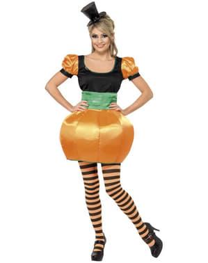 Kürbis Kostüm orange für Damen