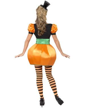Fato de abóbora laranja para mulher