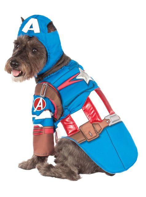 Fato de Capitão América Civil War para cão