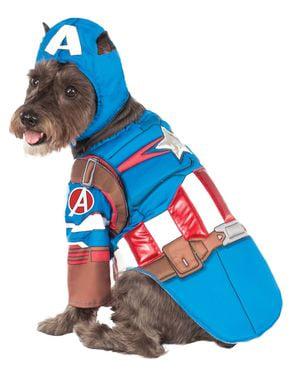 Kapten Amerika sivil perang kostum untuk anjing