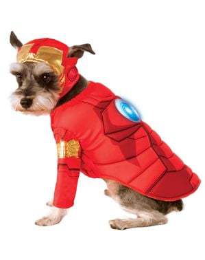 Strój Iron Man dla psów Avengers