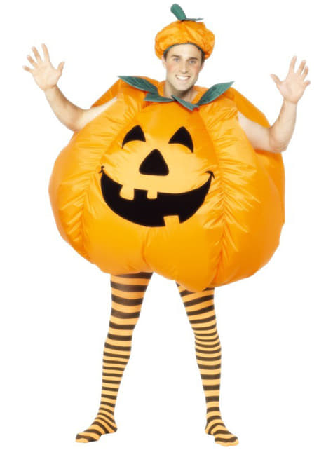 Vestito zucca Halloween gonfiabile