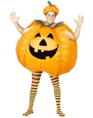 大人用インフレ-タブルかぼちゃ衣装