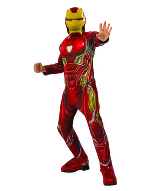 Deluxe Iron Man kostuum voor jongens - Avengers: Infinity War