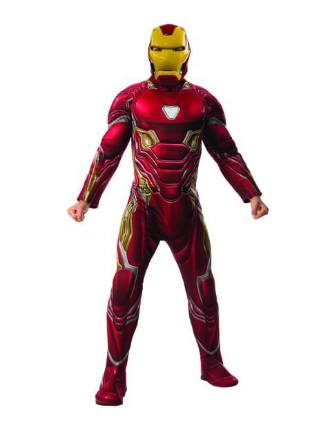 Deluxe Iron Man kostume til mænd - Avengers: Infinity War