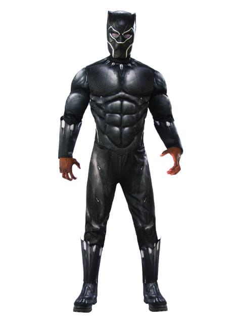 Deluxe Black Panther kostuum voor mannen