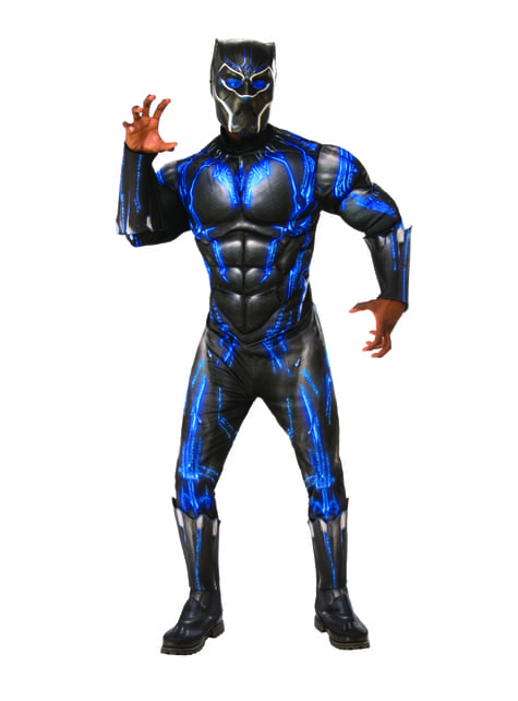 Deluxe Black Panther Battle Suit costume for men