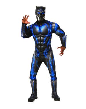Deluxe Fekete Párduc Battle Suit jelmez férfiaknak