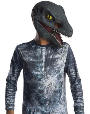 Maschera di Velociraptor Blu per bambino - Jurassic Worl