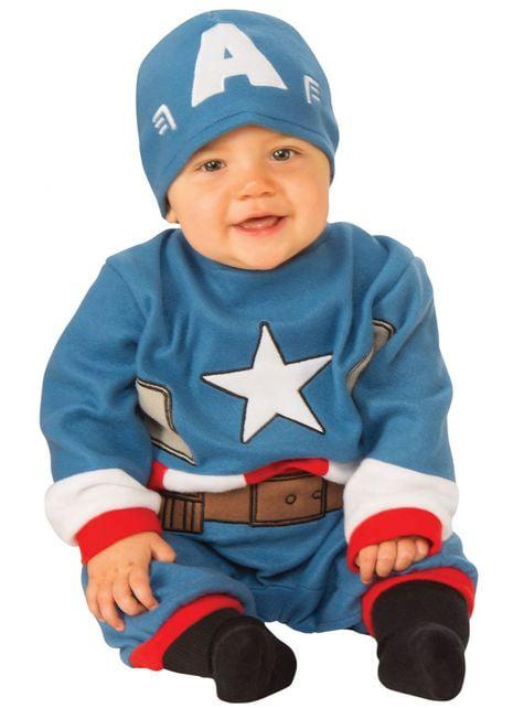 Maskeraddräkt Captain America med mössa för bebis