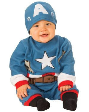 Captain America costume with hat for babies