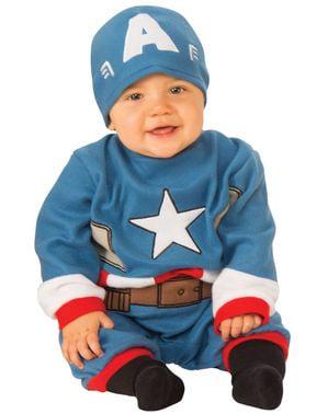 Disfraz de Capitán América con gorro para bebé