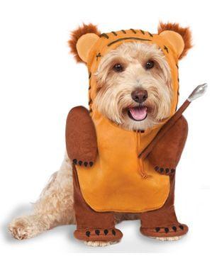 Ewok kostum dengan tombak untuk anjing